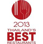 Thailand Tatler Best Restaurant 2013